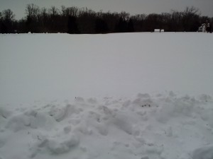Snow at Caledon on the morning of a star party